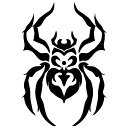 メール便送料無料 ステッカーでオシャレに!♪【シルエットステッカー】くも/蜘蛛/クモ/トライバル/かわいい/車【選べるカラー】転写ステッカー/カッティングステッカーデカール防水/[メ5] M39M【RCP】