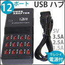 定形外等送料無料 USBハブ 電源コード付 USB機器等の充電にも最適 12ポート 多ポート対応でたくさんの機器が接続可能 (メ1) M39M