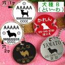 犬の迷子札・丸イラスト (クロネコDM便なら→)【送料無料】