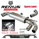 REMUS SPORTS LABEL EXHAUST GOLF7 GTI/GTI パフォーマンス/カーボンルックディフューザー/955113 1500/955213 0000/0046 83C/951401 HES