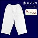メンズ着物用インナー 男性用和装肌着 ステテコ 日本製 M/L/LLサイズ「白」MSTK3213
