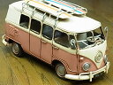 『ブリキのおもちゃ』 アンティーク調 ノスタルジックカー[自動車]キャリーバン/Carrier van(ピンク) 【即納】
