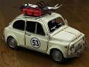 『ブリキのおもちゃ』 アンティーク調 ノスタルジックカー[自動車]キャリーカー/carrier car(アイボリー) 【即納】