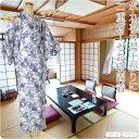 【女性浴衣単品】3780レディース 寝巻きゆかた 仕立て上がり 温泉旅館のゆかた 花蕾ガーゼ 二重袷