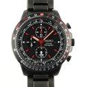手表 - セイコー SEIKO プロスペックス クロノグラフ SBDL011 ゴルゴ13コラボモデル 500本限定 ブラック文字盤 PVD メンズ腕時計 SS 【中古】