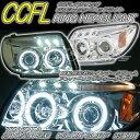 210 215系 サーフイカリング ヘッドライト3連LED/CCFLイカリング仕様クローム アンバーリフレクター 78ワークス