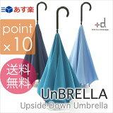 【あす楽土曜営業】【】【ポイント10倍】UnBRELLA/アンブレラ ライトブルー/ネイビー/ターコイズ 自立し濡れにくく開きやすい、雨の日の不快を解消する、まったく新しいおしゃれな傘の誕生です!+d