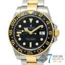 【99172】ROLEX ロレックス 116713LN GMTマスター2 M番 ブラックダイヤル YG/SS 自動巻き ギャランティーカード