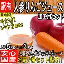 【西日本産】低農薬 人参&りんご+おまけ レモン3個 ジュース用セット 詰め合わせ 約8kg【