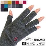 ハンドウォーマーMAX(指長) スマホ手袋 綿 日本製 指なし レディース メンズ 軍手 防寒 841【あす楽】[I:9/40]