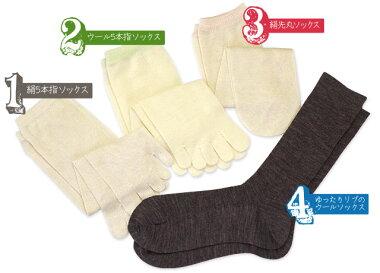 奈良県広陵町の冷えとり靴下セット