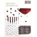 【ネコポス便対応可能商品】 Mini Mini Envelope Card ミニミニエンベロープカード (ミニ封筒型メッセージカード) レッド グリーティングライフ<Greeting Life Inc.> AT-7
