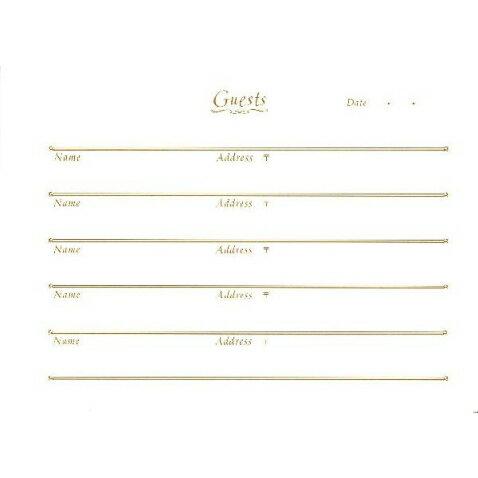 ゲストブック用 別売りリフィル100名分  日本ホールマーク EWE-486-662