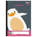College Animal Notebook《カレッジアニマル学習帳》 方眼ノート・B5 [ペンギン・ブラック/黒] キョクトウ/極東ノート 44-LT01K 【3冊までネコポス可】