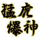 阪神タイガース 刺繍ワッペン 猛虎爆神 4色 (アイロン取付け)