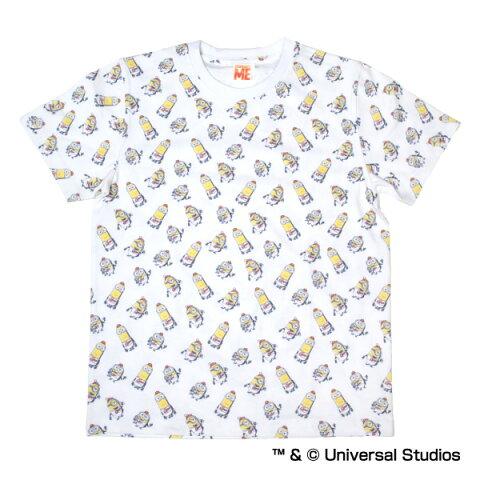広島東洋カープグッズ ミニオン×カープ 総柄Tシャツ ホワイト