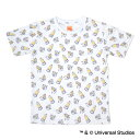 【エントリーでポイント10倍!9月末迄】広島東洋カープグッズ ミニオン×カープ 総柄Tシャツ ホワイト (子供用)