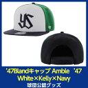 スワローズ '47Blandキャップ Amble '47 CAPTAIN White×Kelly×Navy