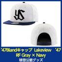 スワローズ '47Blandキャップ Lakeview '47 CAPTAIN RF Gray × Navy