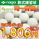 【あす楽対応】軟式ボール/ ナイガイ B・C号練習球 【練習球1,950円均一】 (検定落ち