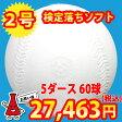 【送料無料】【練習球】検定落ちソフトボール 2号球  ナイガイソフトボール 5ダース(60球)