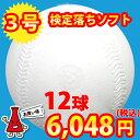 【楽天スーパーSALE】【練習球】検定落ちソフトボール 3号球  ナイガイソフトボール 1ダース(1