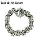 楽天925 silver accessory【Loud Style Design/ラウドスタイルデザイン】HATE DOWN LGB-003 LSD シルバーブレスレット メンズアクセサリー シルバー925 Silver925