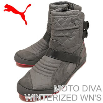 PUMA (PUMA) MOTO DIVA WINTERIZED WN's (women's モトディーバ ウィンタライズド) steel gray/steel gray/ティーベリーレッド