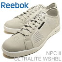 Reebok(リーボック)NPCIIULTRALITEWSHBL(エヌピーシー2ウルトラライトウォッシャブル)SALTYGREY/WHITE(ソルティグレー/ホワイト)[靴・スニーカー・シューズ]【RCP】
