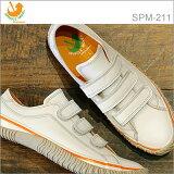 【返品無料対応】 SPINGLE MOVE スピングルムーヴ スピングルムーブ SPM-211 WHITE ホワイト 靴 スニーカー ベルクロシューズ スピングル 【smtb-TD】【saitama】