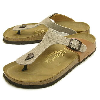 BIRKENSTOCK, Papillio (Birkenstock papirio) Gizeh (Giza) hemp / light brown [shoes and sandals shoes]