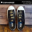CONVERSE コンバース JACK PURCELL V-3 LEATHER ジャックパーセル V-3 レザー BLACK ブラック 靴 スニーカー シューズ ベルクロ マジックテープ