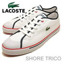 LACOSTE( lacoste )SHORE TRICO( Shoah tricot) white / navy [shoes, sneakers shoes] [smtb-TD] [saitama] [RCP]