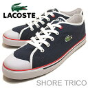 LACOSTE( lacoste )SHORE TRICO( Shoah tricot) navy / white [shoes, sneakers shoes] [smtb-TD] [saitama] [RCP]
