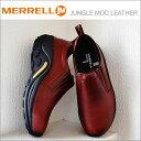 MERRELL メレル JUNGLE MOC LEATHER ジャングルモックレザー DARK BROWN ダークブラウン 567117 靴 スニーカー スリップオン スリッポ..