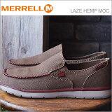 MERRELL メレル LAZE HEMP MOC レイズ ヘンプ モック DARK EARTH ダークアース 靴 スニーカー シューズ 軽量 スリップオン