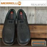 MERRELL メレル REALM MOC レルム モック BLACK ブラック 靴 スニーカー コンフォートシューズ スリップオン