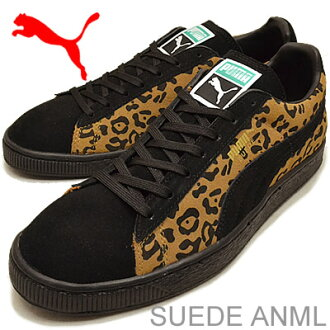 PUMA( Puma) SUEDE ANML ( suede cloth animal) black / tobacco-brown / team gold [shoes, sneakers shoes snake, snake] [RCP] [Rakuten championship sale _ free shipping] [Rakuten championship sale _ point]