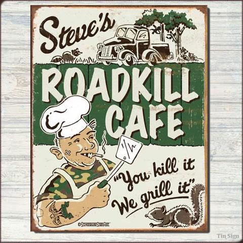 アメリカンブリキ看板 Schonberg -Steve's Cafe-