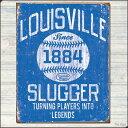 Tin Sign/ティン サイン(ブリキ看板)Louisville Slugger - Blue【tn-26】[アメリカ雑貨・アメリカン雑貨・壁飾り・ディスプレイ・アンティーク・レトロ・ビンテージ・バット・MLB]