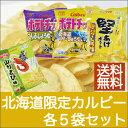 送料無料 北海道限定カルビー 各5袋セット【常】
