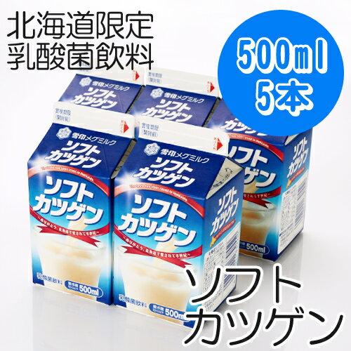 【雪印メグミルク】ソフトカツゲン 500ml×5本【北海道ご当地ドリンク】