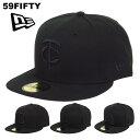 ニューエラ キャップ 59FIFTY NEW ERA オールブラック レッドソックス カブス アスレチックス メンズ 黒 NewEra 帽子 ベースボールキャップ 大きいサイズ ビッグサイズ 野球帽 メジャーリーグ MLB かっこいい ブランド おしゃれ