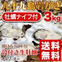 たっぷり3kg!《九十九島産》(生)岩牡蠣130g〜180g(18個前後)/牡蠣ナイフ、開け