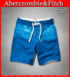 【送料無料】アバクロ Abercrombie&Fitch アバクロンビー&フィッチ【正規品】【メンズ】Mens A&F Classic Fit Board Shorts ムース刺繍 スイムウェア サーフパンツ 水着 Blue ブルー