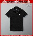 【送料無料】アバクロ Abercrombie&Fitch アバクロンビー&フィッチ【正規品】【メンズ】Mens New Icon Polo 鹿の子 ムース 半袖 鹿の子 ポロシャツ Black ブラック【0824楽天カード分割】10P01Oct16