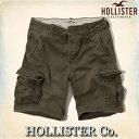 ショッピングホリスター 【送料無料】ホリスター HOLLISTER Co.【正規品】【メンズ】ショートカーゴパンツ/Olive【あす楽対応】