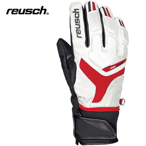 reuschロイシュPROFISL[4301113]ホワイト/ファイヤーレッド/ブラック【メンズ・ユニセックス】【S019】【スキーグローブ】