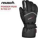 REUSCH(ロイッシュ) POWDER PEAK R-TEX XT ユニセックス スキーグローブ [4501270] ブラック/ホワイト【メンズ・ユニセックス】【S0..