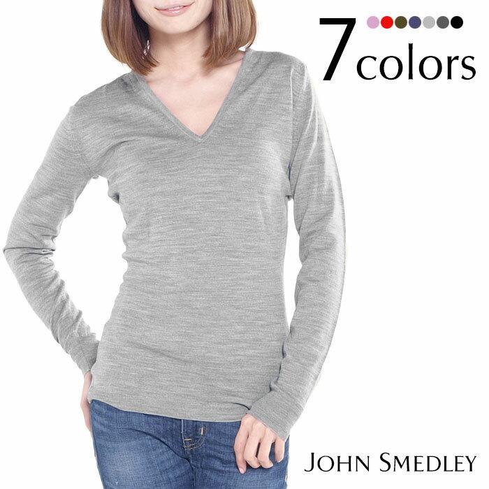 【送料無料】JOHN SMEDLEY ジョンスメドレー ORCHID Vネック 長袖ニット 全7色